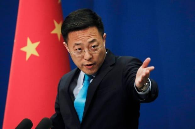 Chinese Foreign Ministry Spokesperson Zhao Lijian accused Taiwan of 'clumsy political manipulation' after Taiwan's Foreign Minister Joseph Wu gave an interview to CBC News calling on fellow democracies to voice more support for Taiwan in the face of an increasingly hostile China. (Andy Wong/The Associated Press - image credit)