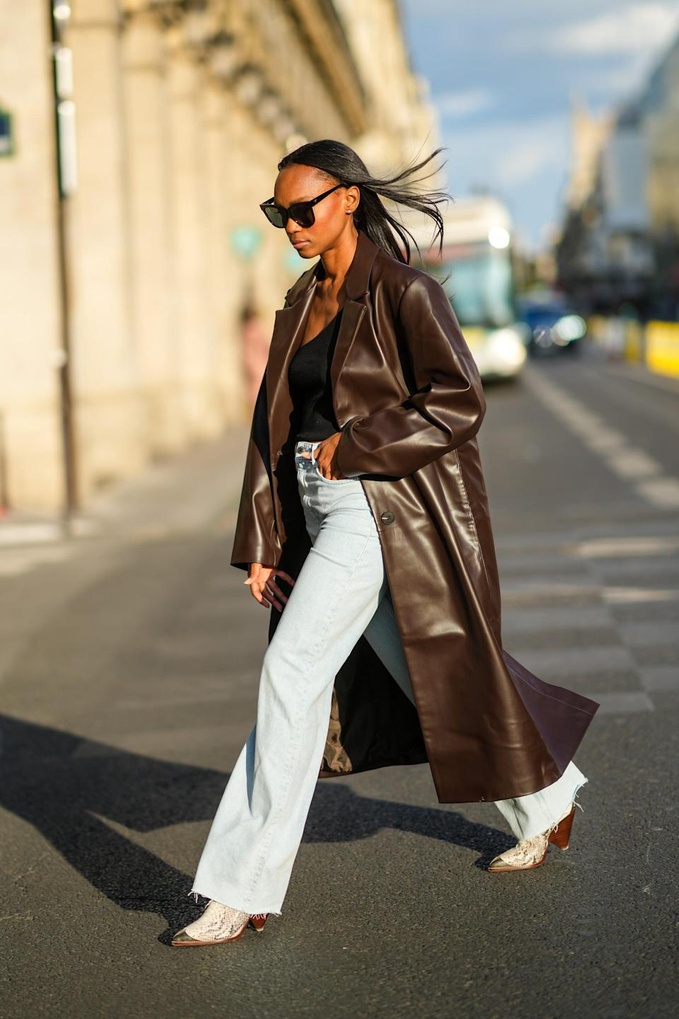 <p>Longline leather coats get a fresh upgrade in a swathe of new colors - like pastels and gem tones. Whatever iteration you choose, this outerwear will provide the sleek finish to any outfit.</p>