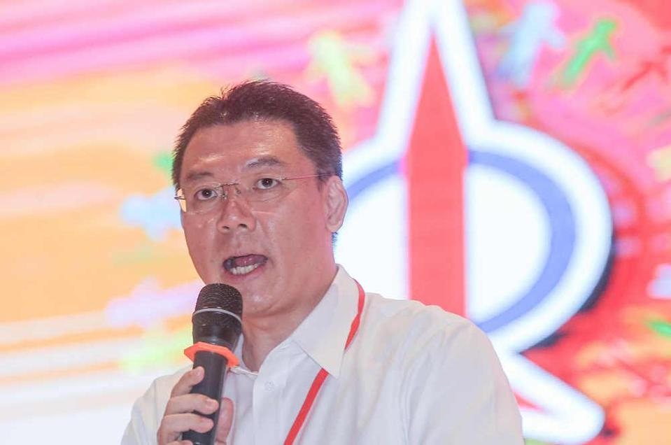 Perak DAP chairman Nga Kor Ming, when announcing the newly-elected committee, said that this year's election result was a convincing and formidable majority. — Picture by Farhan Najib