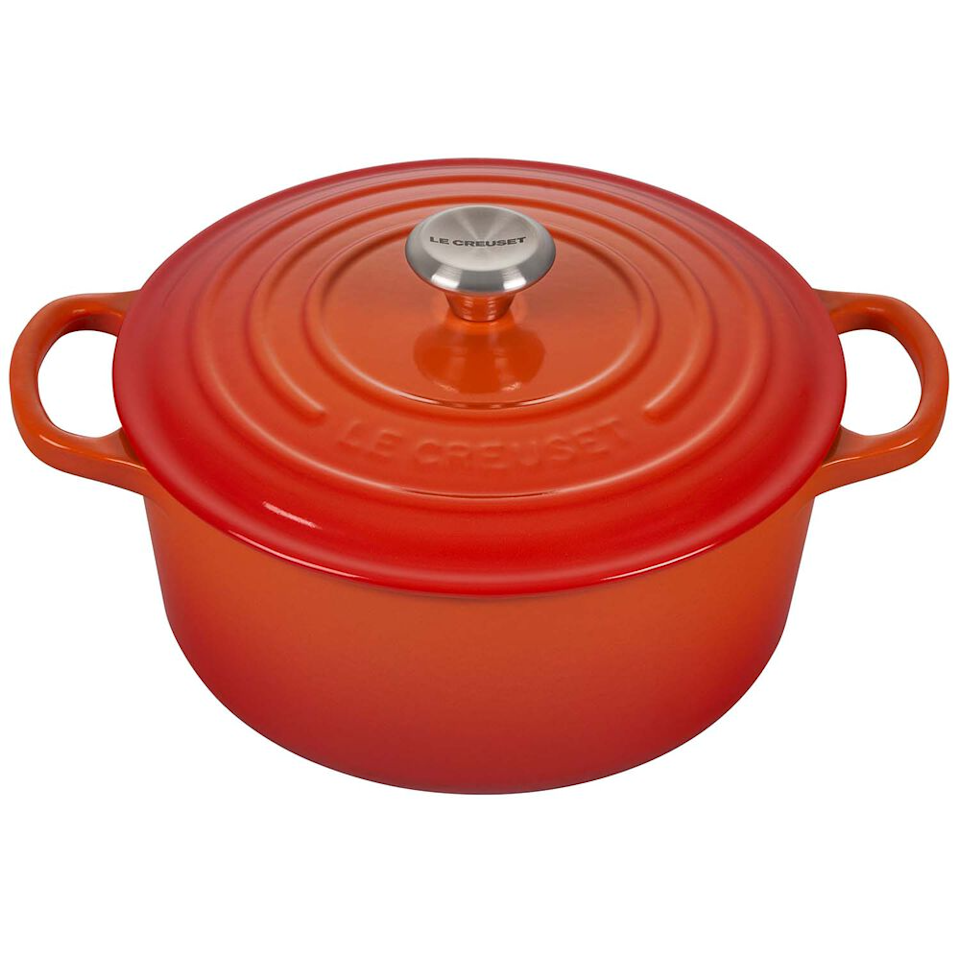 """Improve their cooking game with this stew essential.<br><br><strong>Le Creuset</strong> Signature Round Dutch Oven, 3.5 Qt., $, available at <a href=""""https://go.skimresources.com/?id=30283X879131&url=https%3A%2F%2Fwww.surlatable.com%2Fpro-889899-cass-round-oven-35-qt%2F1993955.html"""" rel=""""nofollow noopener"""" target=""""_blank"""" data-ylk=""""slk:Sur La Table"""" class=""""link rapid-noclick-resp"""">Sur La Table</a>"""