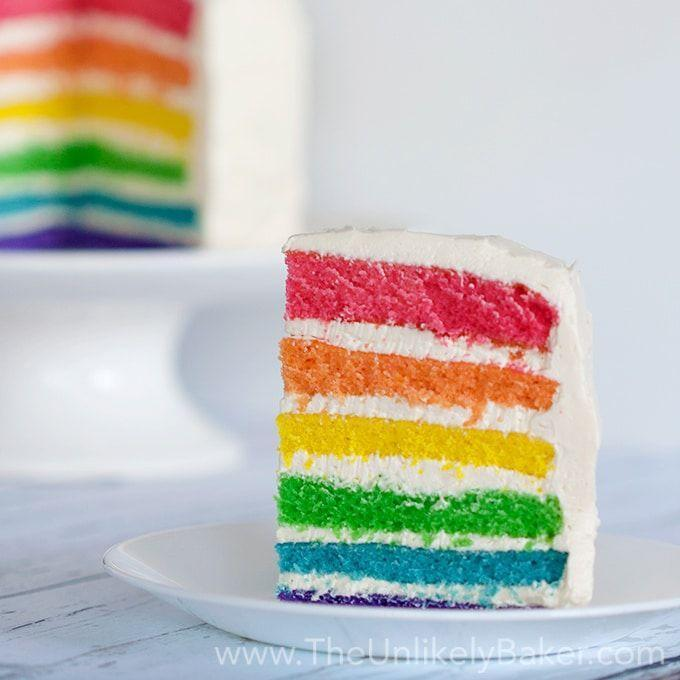 """<p>Instead of a cake with a rainbow outside, you can hide the bright colors for an amazing reveal. The time spent making each layer will be totally worth it.</p><p><strong>Get the recipe at <a href=""""https://theunlikelybaker.com/rainbow-cake/"""" rel=""""nofollow noopener"""" target=""""_blank"""" data-ylk=""""slk:The Unlikely Baker"""" class=""""link rapid-noclick-resp"""">The Unlikely Baker</a>.</strong></p><p><strong><a class=""""link rapid-noclick-resp"""" href=""""https://go.redirectingat.com?id=74968X1596630&url=https%3A%2F%2Fwww.walmart.com%2Fsearch%2F%3Fquery%3Dcake%2Bpans&sref=https%3A%2F%2Fwww.thepioneerwoman.com%2Ffood-cooking%2Fmeals-menus%2Fg36421919%2Frainbow-recipes%2F"""" rel=""""nofollow noopener"""" target=""""_blank"""" data-ylk=""""slk:SHOP CAKE PANS"""">SHOP CAKE PANS</a><br></strong></p>"""
