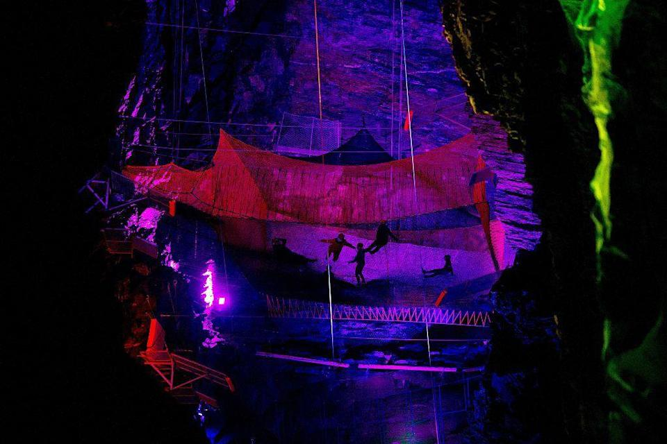 """<p>Bounce around in a cavern twice the size of St Paul's Cathedral at this magical subterranean playground in Llangollen. Catch a train together to the heart of the old mine where you'll discover beautifully lit caves, vast trampolines, walkways and sldes. It's full-on, adrenalin-pumping fun.</p><p>Enquire for prices.</p><p><a class=""""link rapid-noclick-resp"""" href=""""https://www.gohen.com/activities/trampoline-cave-adventure.asp"""" rel=""""nofollow noopener"""" target=""""_blank"""" data-ylk=""""slk:BOOK HERE"""">BOOK HERE </a></p>"""