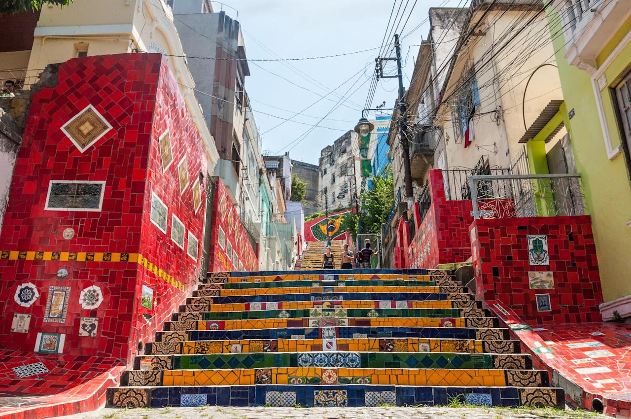 <p>Rio de Janerio's Selarón stairs were featured in Pharrel's 2002 hit 'Beautiful' so it comes as no surprise that the famous landmark has over 150,000 Instagram hashtags in its honour. <em>[Photo: Getty]</em> </p>
