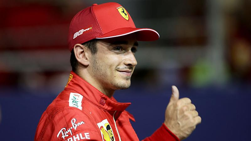 Charles Leclerc has set the pace in Singapore qualifying.