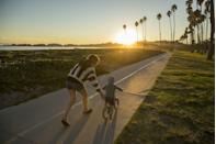 <p>There's nothing like fresh air and a bike ride in the spring to make you feel renewed and energized. Choose a particularly gorgeous day to hop on your bike with your partner or your entire family and get some movement in.</p>