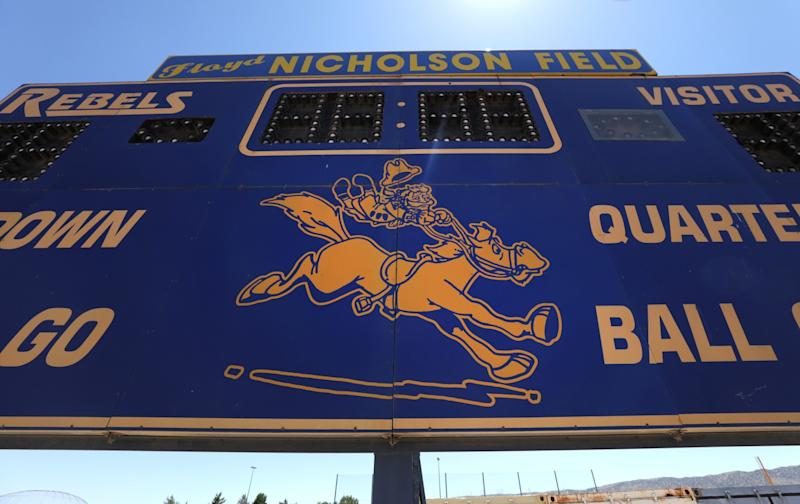 """At Quartz Hill High School in the Antelope Valley, the """"Rebels"""" mascot is out."""
