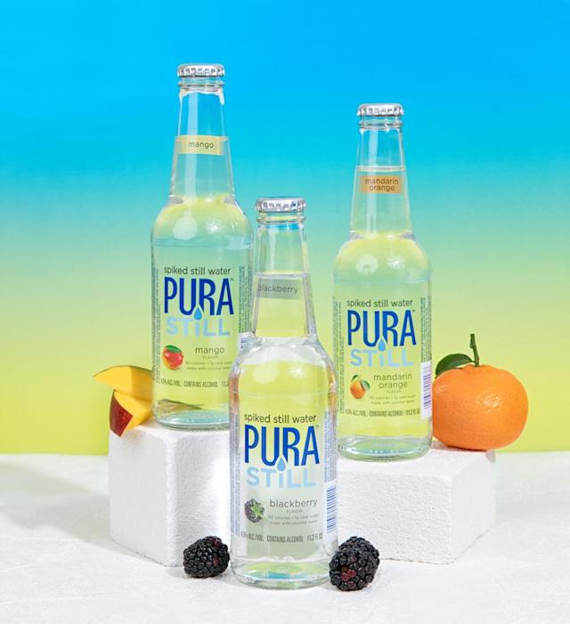 The boozy water comes in three different flavours [Photo: Pura Still]