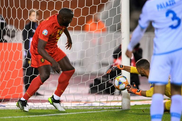 Lukaku scored twice as Belgium reached Euro 2020 by putting nine past San Marino