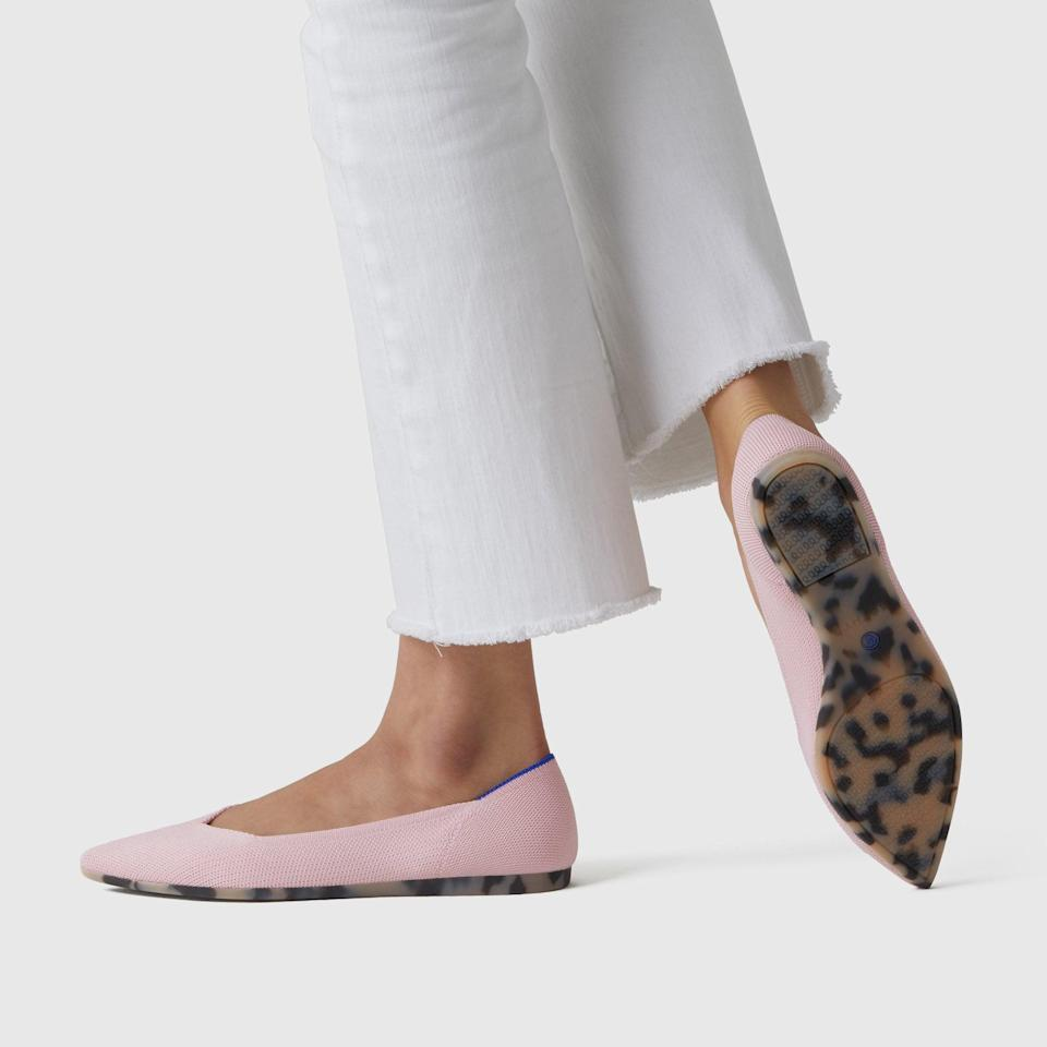 """<p>These <a href=""""https://www.popsugar.com/buy/Rothy-Point-Flats-587293?p_name=Rothy%27s%20Point%20Flats&retailer=rothys.com&pid=587293&price=145&evar1=fab%3Aus&evar9=23528872&evar98=https%3A%2F%2Fwww.popsugar.com%2Fphoto-gallery%2F23528872%2Fimage%2F47599866%2FRothy-Point-Flats&list1=shopping%2Cwedding%2Cshoes%2Cbridal%2Cfashion%20shopping&prop13=api&pdata=1"""" class=""""link rapid-noclick-resp"""" rel=""""nofollow noopener"""" target=""""_blank"""" data-ylk=""""slk:Rothy's Point Flats"""">Rothy's Point Flats</a> ($145) come in a variety of colors and will keep your feet cozy.</p>"""