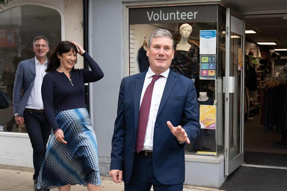 Labour leader Sir Keir Starmer, shadow chancellor Rachel Reeves and Hove MP Peter Kyle (Stefan Rousseau/PA) (PA Wire)