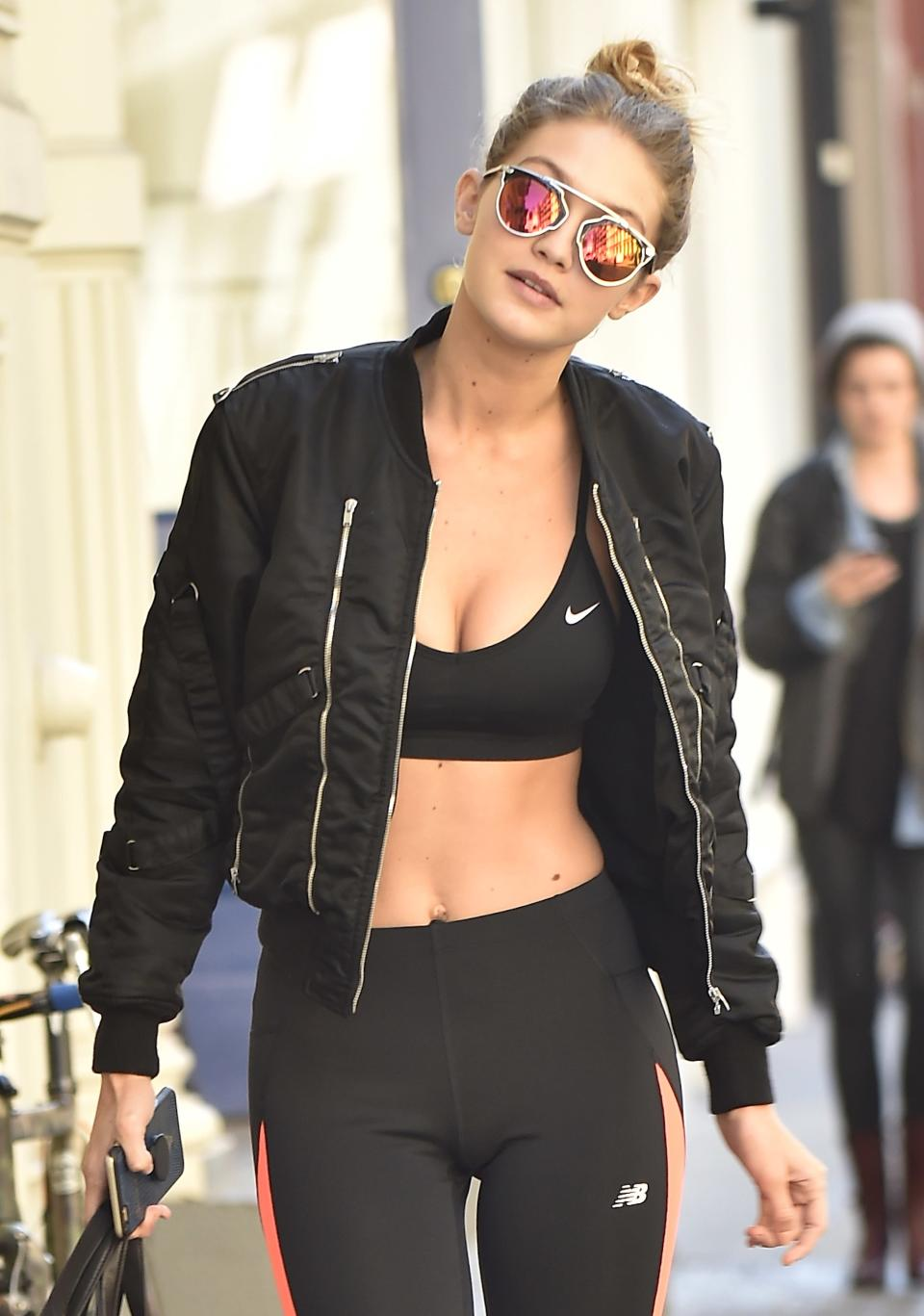 Of course she looks great in athleisure.