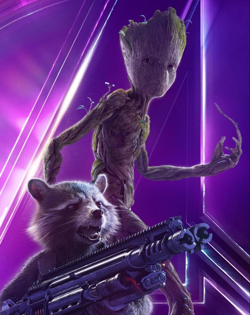 """Rocket and Grootposter for """"Avengers: Infinity War."""""""