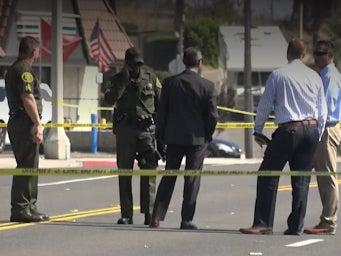 A black man has been shot dead by homeless outreach police in San Clemente, California, after reportedly being stopped for jaywalking (CBSN)