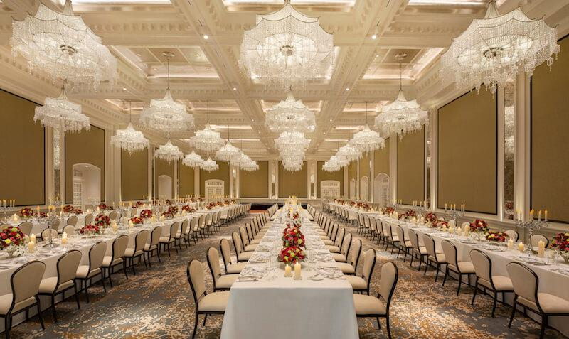 Jubilee Ballroom. Photo: Raffles Hotel Singapore