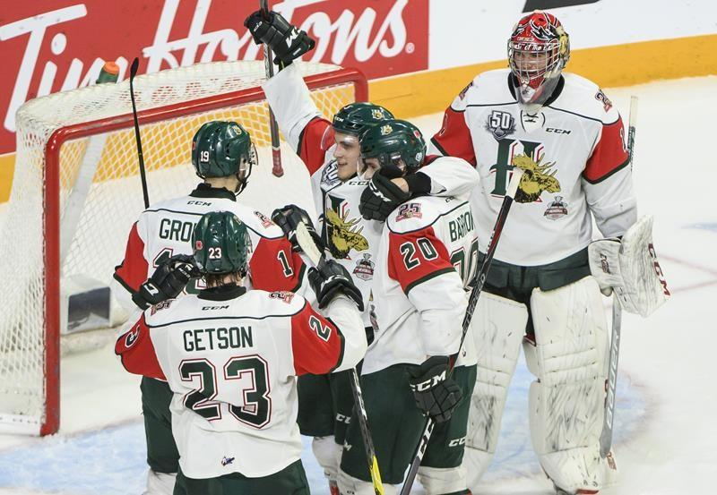 Huskies beat Mooseheads 4-3 on late goal from Lauko; Halifax still goes to final