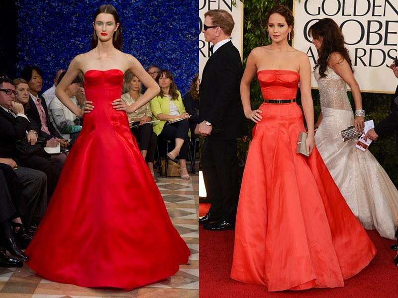 Christian Dior Fall 2012 Haute Couture; Jennifer Lawrence in 2013