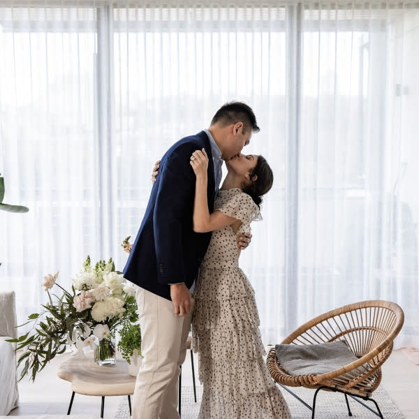 The couple got married in their Sydney home