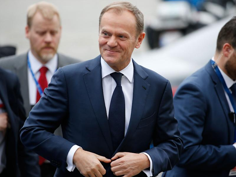 EU Council President Donald Tusk in Brussels on 9 March: EPA