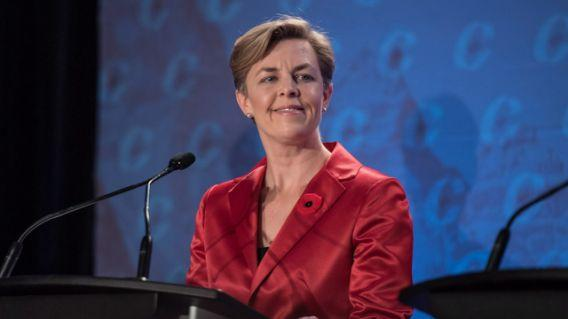 Kellie Leitch says she shares some views with Donald Trump. CP Photo.