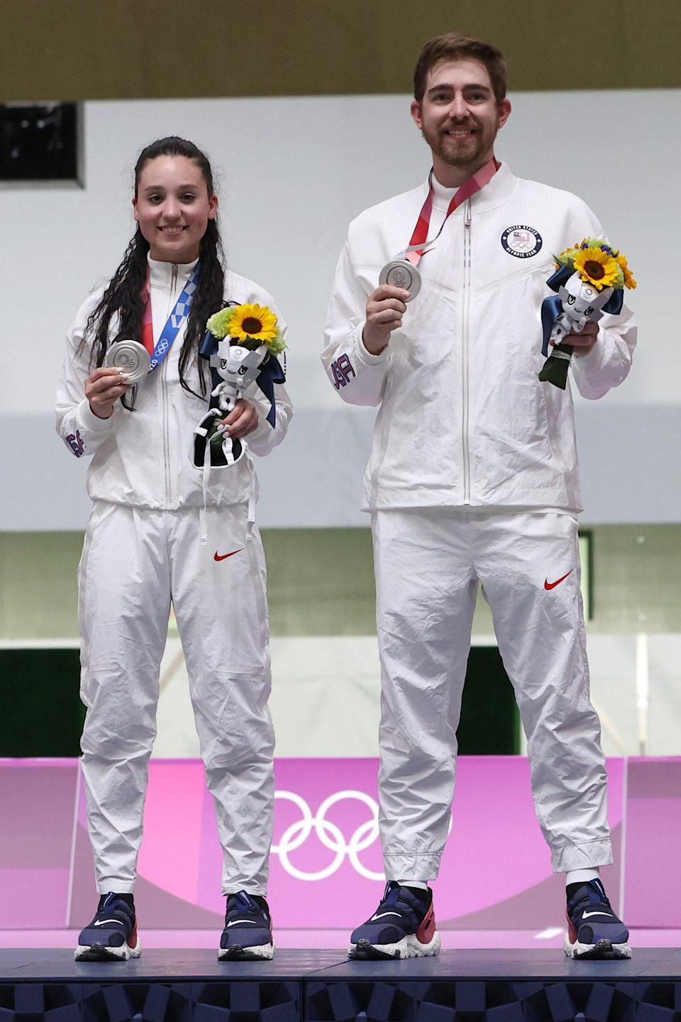 """<p>Biography: Tucker is 20 and Kozeniesky is 26</p> <p>Event: 10m air rifle mixed team</p> <p>Quote: Kozeniesky: """"The first thing [that went through my mind] is that it's heavy. Thud. Five years of work, done."""" </p>"""
