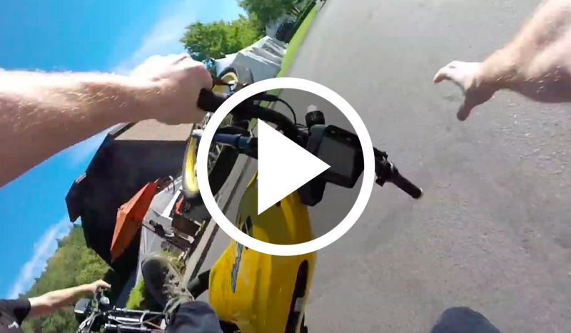 Watch GoPro Chest Cam Clip of Robb Report Staffer Wiping Out on an Electric Bike