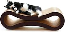 <p>The <span>PetFusion Cat Scratcher Lounge - Walnut Brown</span> ($50) doubles as eccentric home decor. Your cat will love to lounge and chill on this piece of art.</p>