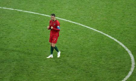 Soccer Football - World Cup - Group B - Portugal vs Spain - Fisht Stadium, Sochi, Russia - June 15, 2018 Portugal's Cristiano Ronaldo celebrates after the match REUTERS/Lucy Nicholson