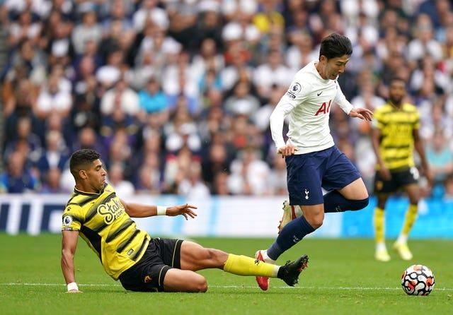 Son Heung-min in action