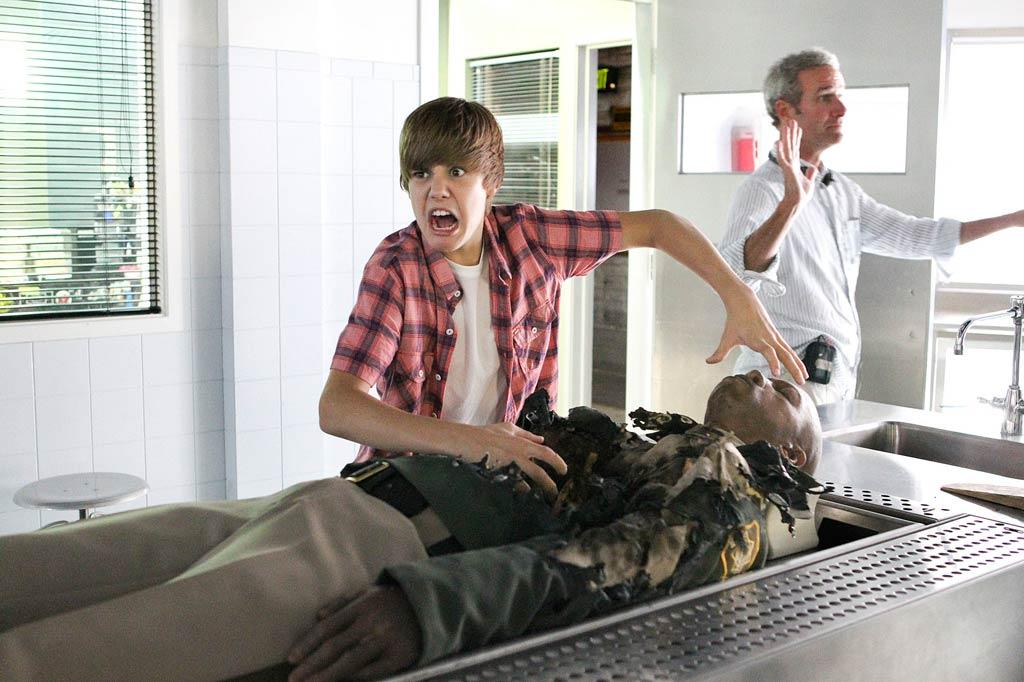"Justin Bieber was such ""a terror"" on the set of ""CSI,"" reports the <i>National Enquirer</i>, ""he's been BANNED from the show!"" According to the mag, ""The plan was to bring The Biebs back [to ""CSI""] in the future in flashback scenes,"" but off-camera he ""caused so much trouble"" that producers nixed his character's return. For what about his ""horrid behavior"" was the final straw, and how Bieber feels about being killed off, read what his manager exclusively tells <a href=""http://www.gossipcop.com/justin-bieber-banned-csi-jason-mccann-marg-helgenberger/"" target=""new"">Gossip Cop</a>. Sonja Flemming/CBS"