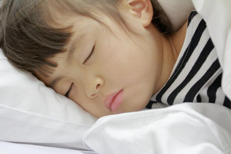 sleeping Japanese girl (4 years old)