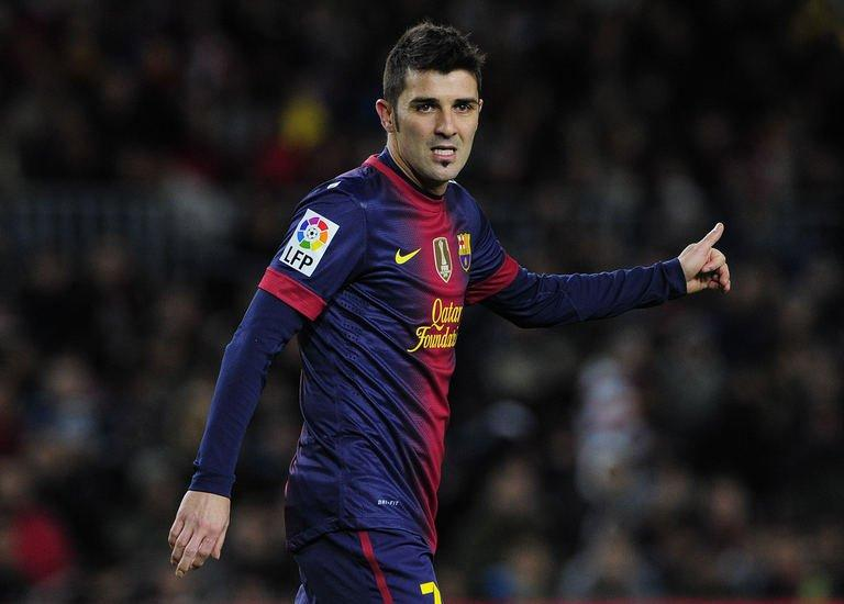 Barcelona's forward David Villa is shown November 28, 2012 in Barcelona. Barca will be without Villa on Saturday as he has been taken back into hospital with kidney stone pain, while Xavi remains on the sidelines despite returning to light training on Wednesday