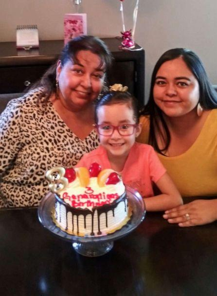 PHOTO: Lourdes Pizarro (aka Nana) was born Oct. 2, 1959. On Oct. 2, 1989, Pizarro gave birth to Jessica Chavez. On Oct. 2, 2013, Pizarro's other daughter, Sarah, welcomed Sabella Contreras. Sabella turned 6 this year. (Jessica Chavez)