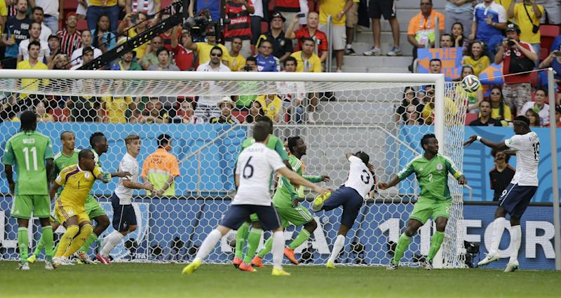 France in World Cup QF as nerve holds vs. Nigeria