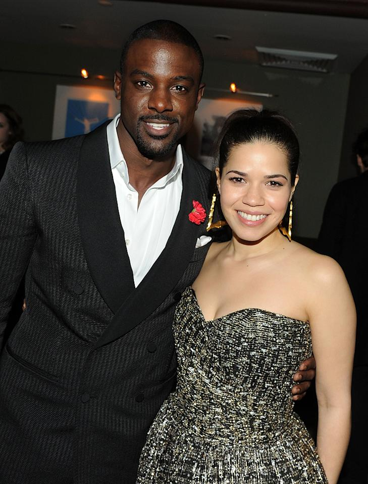 """<a href=""""http://movies.yahoo.com/movie/contributor/1809886895"""">Lance Gross</a> and <a href=""""http://movies.yahoo.com/movie/contributor/1807809245"""">America Ferrera</a> at the New York City premiere of <a href=""""http://movies.yahoo.com/movie/1810093971/info"""">Our Family Wedding</a> - 03/09/2010"""