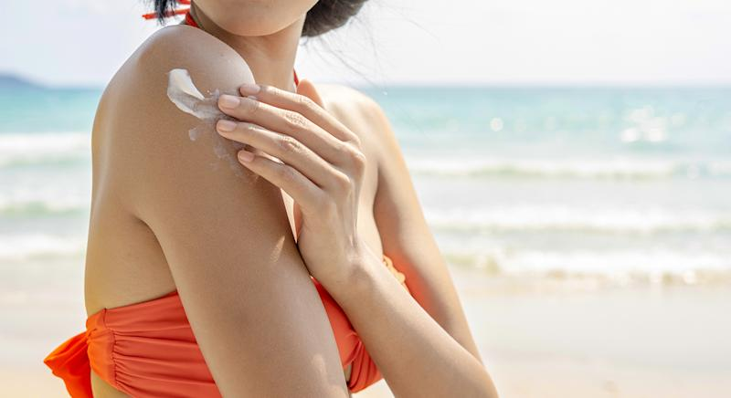 Vichy's Solar Protective Water SPF with beta-carotene enhanced tan will help boost your tan, and is our summer must have. (Getty Images)
