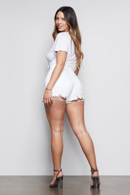 "<p>These <a href=""https://www.popsugar.com/buy/Good-American-Bombshell-Shorts-582017?p_name=Good%20American%20Bombshell%20Shorts&retailer=goodamerican.com&pid=582017&price=99&evar1=fab%3Aus&evar9=35329485&evar98=https%3A%2F%2Fwww.popsugar.com%2Ffashion%2Fphoto-gallery%2F35329485%2Fimage%2F47550223%2FGood-American-Bombshell-Shorts&list1=shopping%2Cdenim%2Csummer%20fashion%2Cfashion%20shopping&prop13=mobile&pdata=1"" class=""link rapid-noclick-resp"" rel=""nofollow noopener"" target=""_blank"" data-ylk=""slk:Good American Bombshell Shorts"">Good American Bombshell Shorts</a> ($99, originally $145) are a customer favorite.</p>"