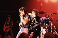 """<p>The Australian band formed by brothers Malcolm and Angus Young has been on the hard rock scene since the 70s. But after the death of their original lead singer Bon Scott from alcohol poising in 1980, the band transformed themselves with new singer Brian Johnson and released their epic album """"Back in Black"""", which is one of the all-time bestselling albums and featured singles like """"You Shook Me All Night Long"""" and """"Hells Bells."""" </p>"""