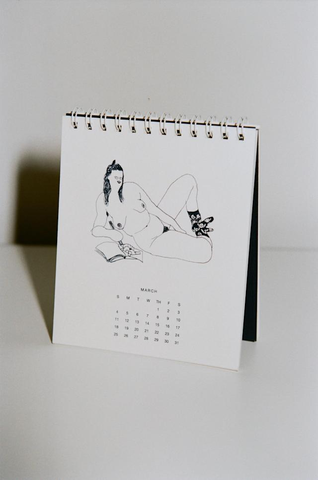 Illustrations from the 2018 Kara desk calendar. (Photo: Kara)