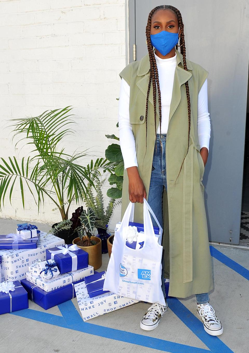 <p>Issa Rae spreads holiday cheer while celebrating Small Business Saturday with American Express in L.A.</p>