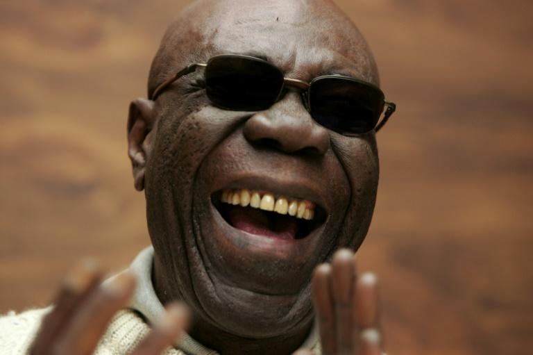 Manu Dibango, or 'Papy Groove' burst on to the international scene with 'Soul Makossa', which was picked up by New York DJs (AFP Photo/Olivier Laban-Mattei)