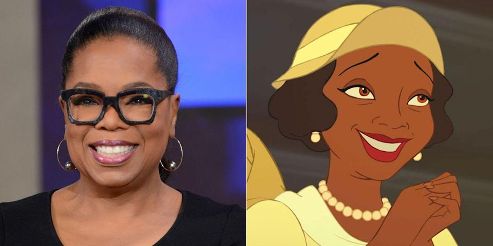 <p>In the first animated Disney movie to feature a black princess, released in 2009, Oprah Winfrey leant her voice to the part of Eudora, Tiana's mother. Tiana's dad was voiced by the <em>Empire</em>'s Terrence Howard.</p>