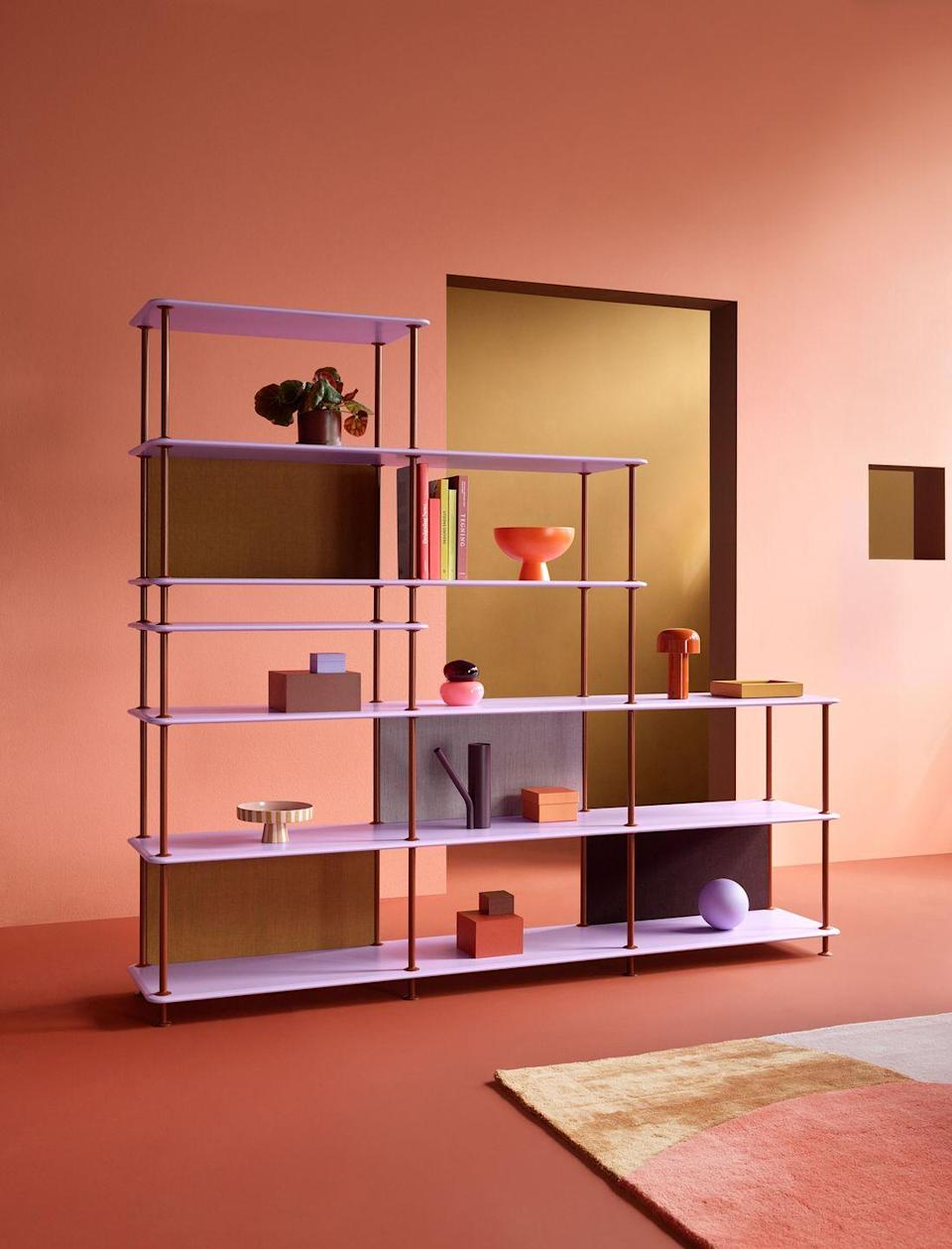 """<p>Danish brand Montana is known for its colourful modular storage systems, so its new collaboration with Swedish photographer and colourist Tekla Evelina Severin is a stroke of genius. Severin has introduced two on-trend colours to the brand's palette: pastel 'Iris' and earthy 'Masala', which are available to mix and match on the 'Montana Free' collection of shelving units, which come in various sizes and dimensions. From £1,568 <a href=""""https://www.montanafurniture.com/en-gb"""" rel=""""nofollow noopener"""" target=""""_blank"""" data-ylk=""""slk:montanafurniture.com"""" class=""""link rapid-noclick-resp"""">montanafurniture.com</a></p>"""