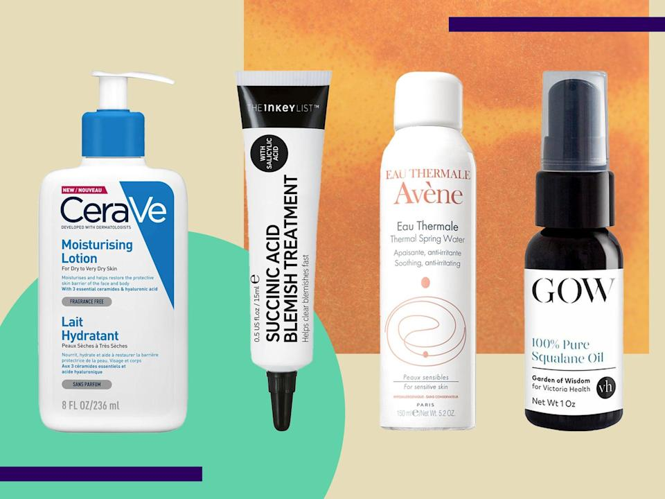 <p>Good skincare doesn't need to cost a fortune, we've found the best picks from The Ordinary, Inkey List, The Body Shop and more</p> (The Independent)