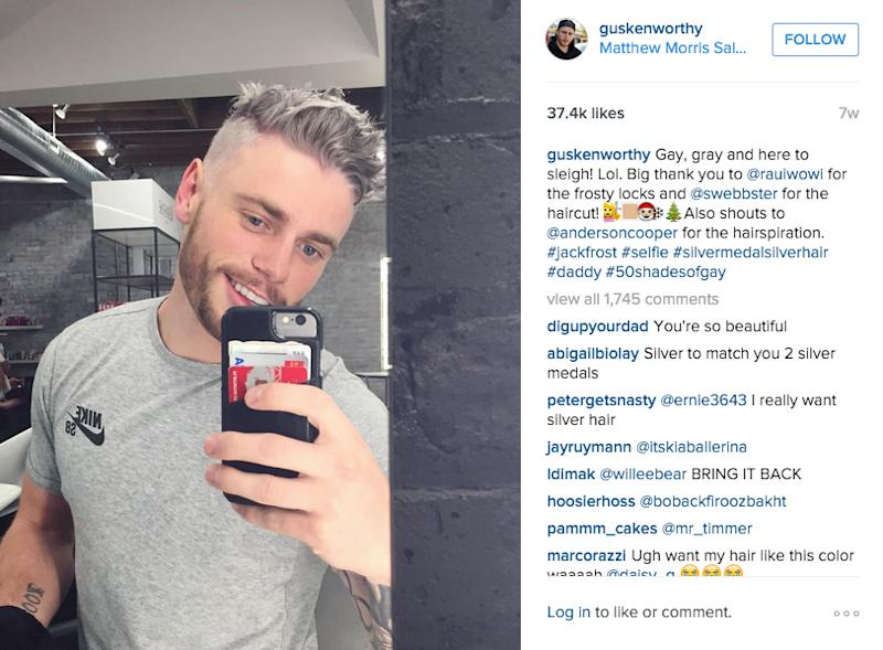 Millennial Guys Are Dyeing Their Hair Gray