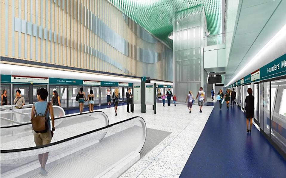 Works on the station will commence this year, with it expected to open in tandem with the Founders' Memorial in 2025.