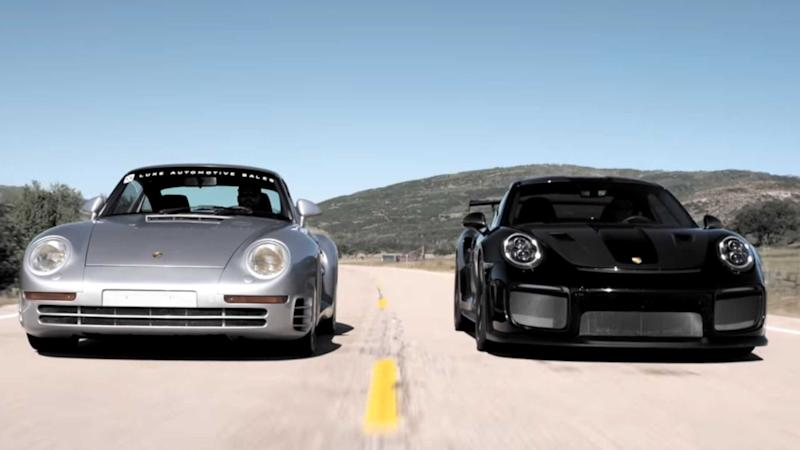 Watch A Porsche 959 Take On A New 911 GT2 RS
