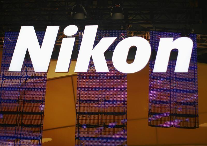 A sign hangs in the Nikon booth on the first day of the Consumer Electronics Show in Las Vegas
