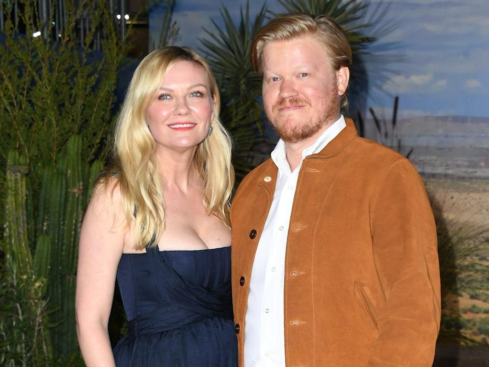 """Kirsten Dunst and Jesse Plemons attend the premiere of Netflix's """"El Camino: A Breaking Bad Movie"""" at Regency Village Theatre on October 07, 2019 in Westwood, California."""