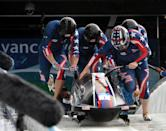 Bobsledding, winter sport in which teams of two or four steer a sled down an ice-covered track, reaching speeds of more than 135 km/h (84 mph). The fastest sled wins, often by mere hundredths of a second. The sport's name comes from its early days, when sledders bobbed their bodies back and forth on straightaways to help the sled along. Bobsledding is similar to F1 as it requires corporate sponsorship for those who have any hope of participating. The bobsleds themselves are not cheap and cost around $25,000 and it is very expensive to train, as there are few bobsled runs in the world. Constructing a bobsled run can cost millions of dollars. Bobsledding is a team sport and requires four participants and therefore much more expensive.