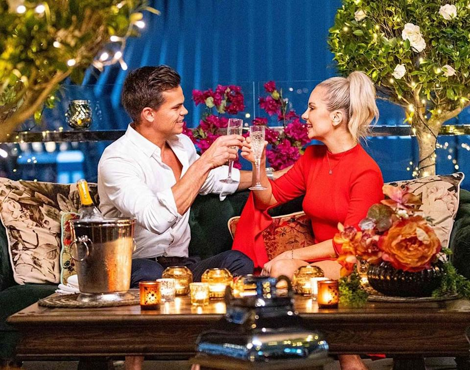 The Bachelor's Jimmy and Steph on a date